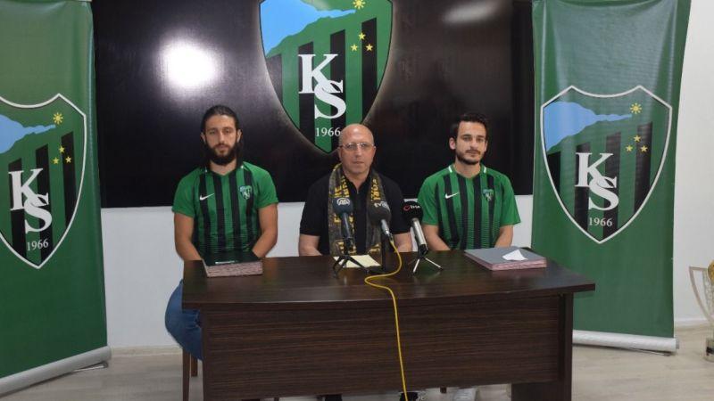 Kocaelispor, Mevlüt Çelik ve İlyas Kubilay Yavuz'u kadrosuna kattı