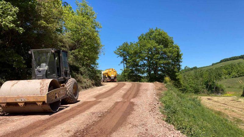 İzmit köy yollarına konforlu yollar yapılıyor