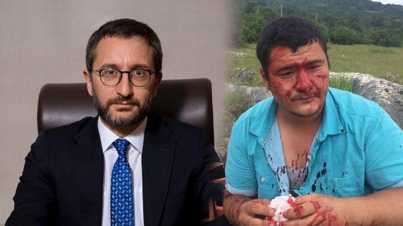 İletişim Başkanı Altun, meslektaşımıza yapılan saldırıyı kınadı