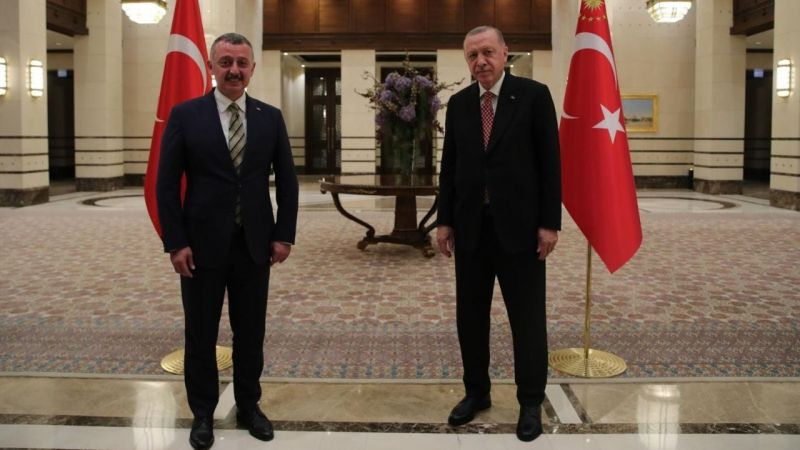 Büyükakın Erdoğan'la görüştü