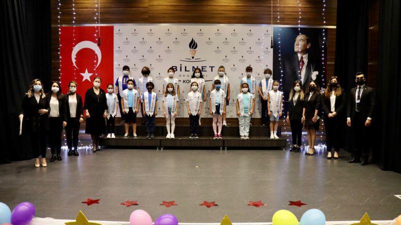 BİLNET Kocaeli ilkokul öğrencileri karnelerini aldı