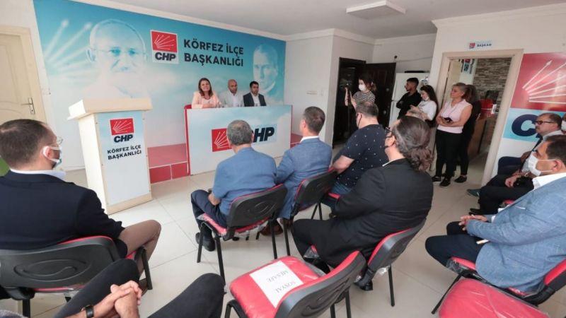 Hürriyet CHP Körfez'i ziyaret etti