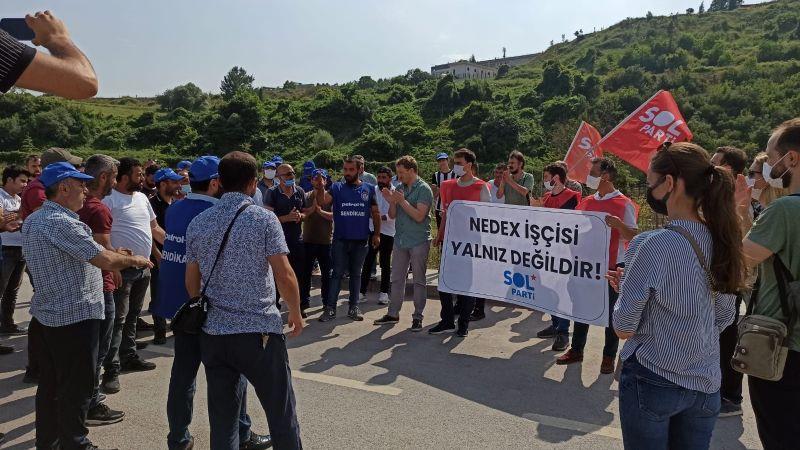 Grevdeki Nedex Kimya İşçilerine SOL Parti'den dayanışma ziyareti