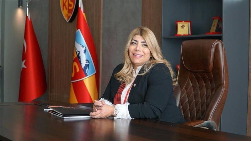 Kayserispor'da Berna Gözbaşı yeniden başkan seçildi