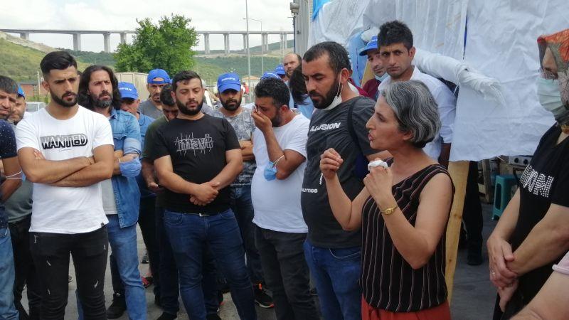 Emek Partili kadınlar, yemeklerini grevdeki Nedex işçileriyle paylaştı