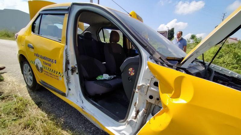 Ticari taksi ile cip çarpıştı: 1 yaralı