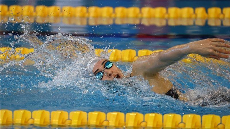 Milli yüzücüler Merve Tuncel ve Yiğit Aslan altın, Mert Kılavuz ise gümüş madalya kazandı