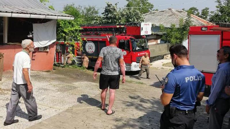 Arslanbey'de ki o ev  ikinci kez yanmaktan  son anda kurtarıldı