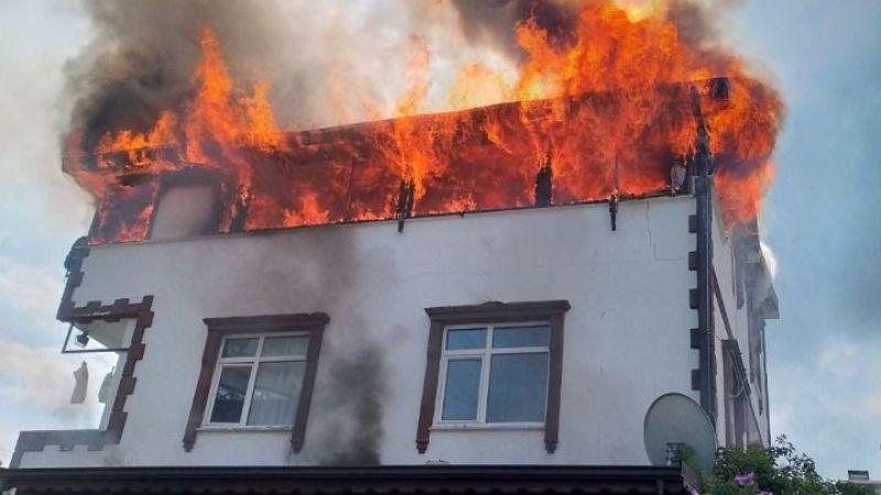 Kocaeli'de villada çıkan yangın korkuttu