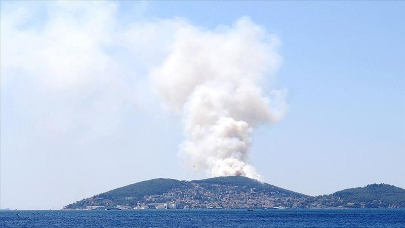 Heybeliada'da ormanlık alanda çıkan yangın kontrol altına alındı