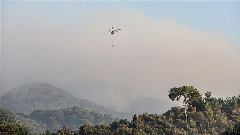 Kazdağları'nda orman yangınına müdahale devam ediyor