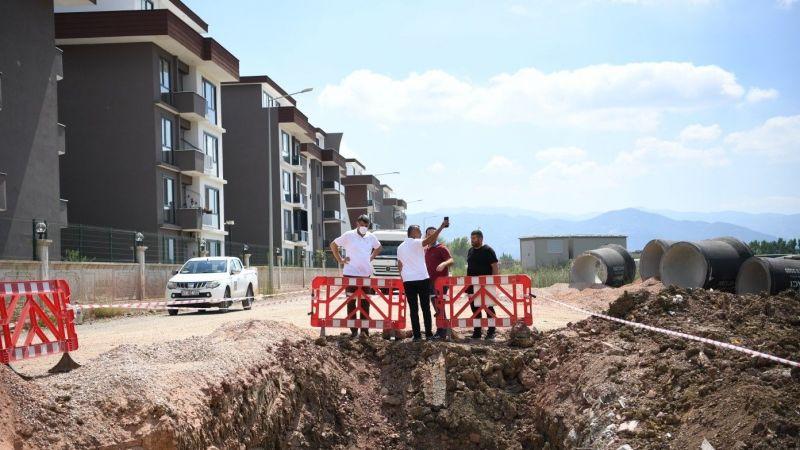 Başkan Kocaman, altyapı çalışmalarının tamamlanması ile asfalt serimine geçileceğini açıkladı