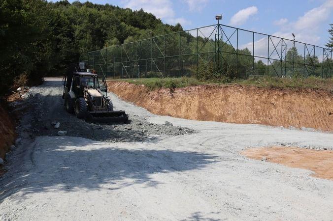 Çubuklu Osmaniye'de parke yol çalışmaları sona yaklaştı