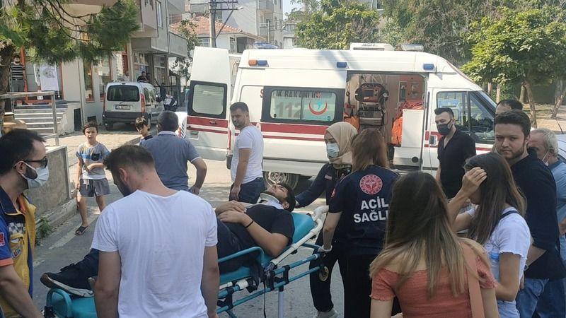 Hafif ticari araçla çarpışan motosikletin sürücüsü yaralandı