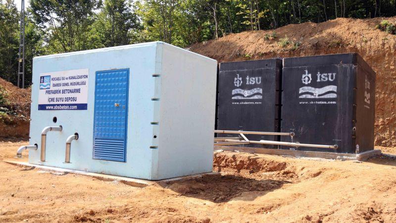 Gölcük'te su depoları inşaatları devam ediliyor
