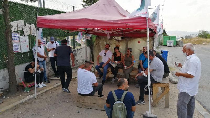 EMEP, grevlerinde 250'nci günü geride bırakan Baldur işçilerini ziyaret etti