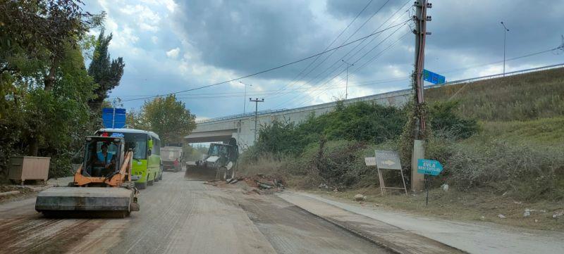 Turan Güneş Caddesi'nde asfalt çalışmaları yapılıyor