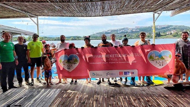 İzmit Belediyesi vatandaşa wakeboard heyecanı yaşattı