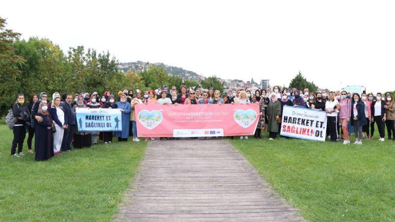 'Avrupa Hareketlilik Haftası' finali sağlık yürüyüşüyle yaptı