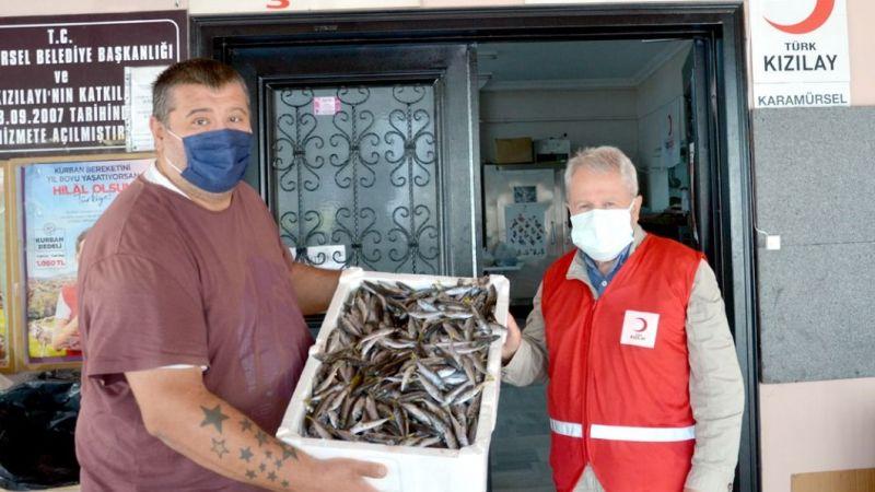 Boy yasağına uymadığı için el konulan 3 ton balık ihtiyaç sahiplerine dağıtıldı