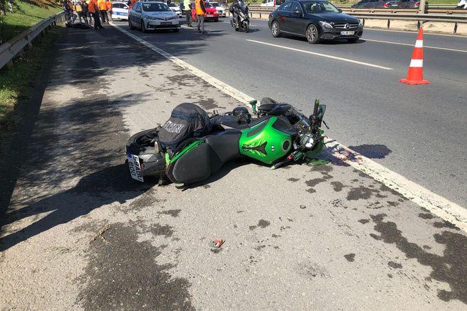 TEM'de feci motosiklet kazası: 1 ölü