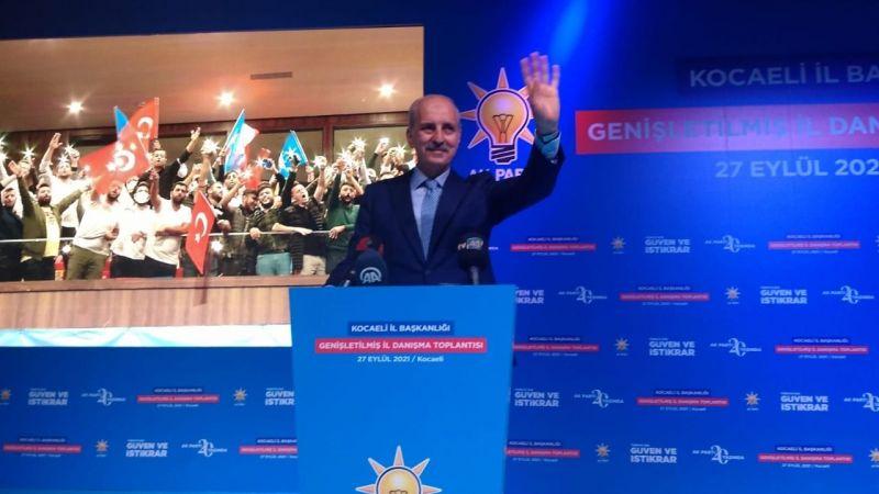 """Kurtulmuş, """"İzmit Belediyesi başta olmak üzere Kocaeli'de Ak Parti'yi birinci parti çıkaracaksınız"""""""