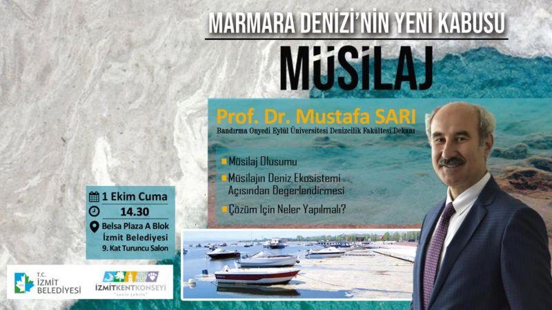 İzmit Kent Konseyi, Müsilaj konferansı için Prof Dr. Sarı'yı getiriyor