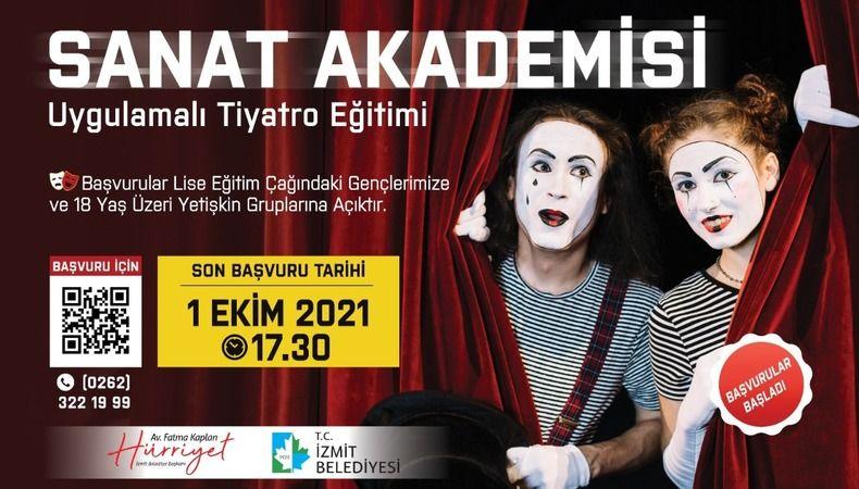 Sanat Akademisi Tiyatro Eğitimi başvurularında son gün YARIN