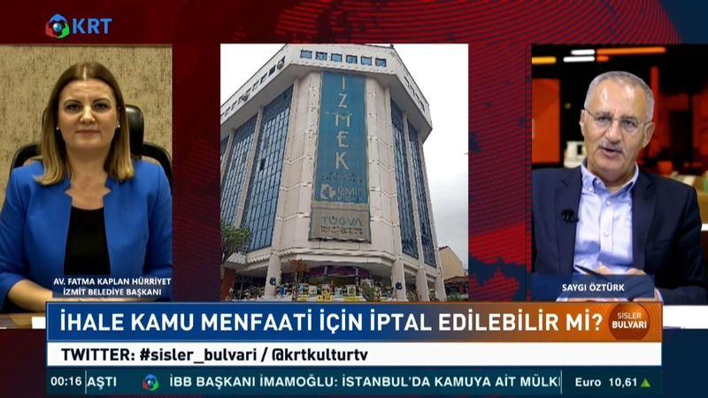 Hürriyet  KRT TV'de kamuoyunu aydınlattı