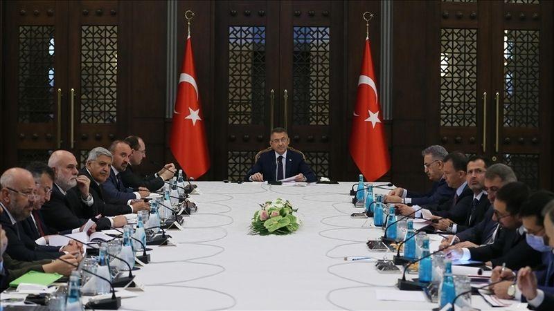 Cumhurbaşkanlığı Külliyesi'nde ihracatın geliştirilmesine yönelik toplantı yapıldı