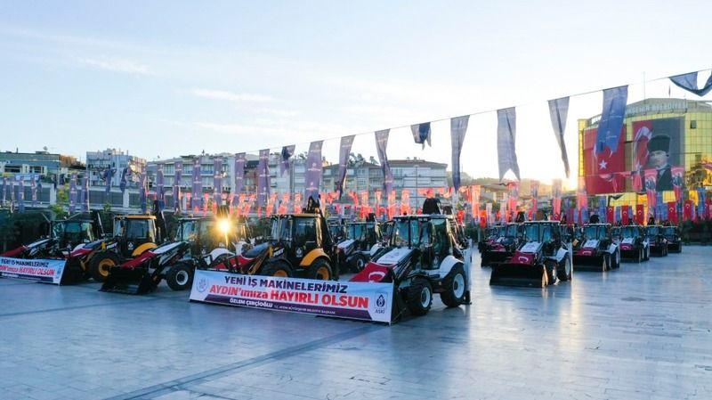 Aydın Büyükşehir İş Makinesi Filosunu Güçlendirdi
