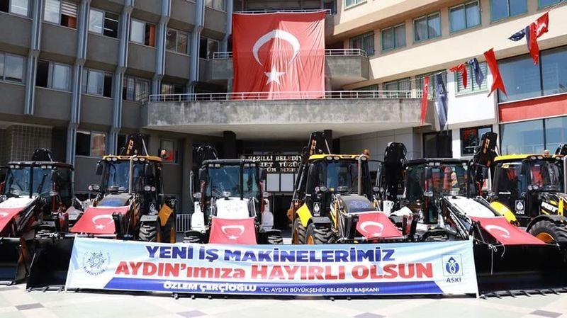 Aydın Büyükşehir'den, Nazilli'ye 10 Adet İş Makinesi