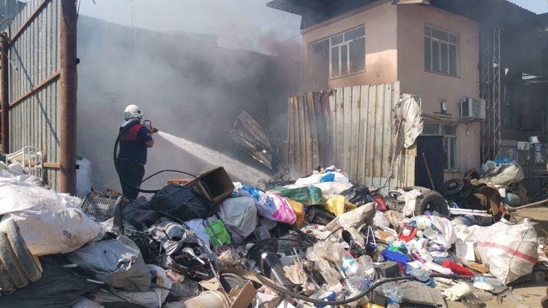 Nazilli'de Alevlere Teslim Olan Hurdacı Yürekleri Ağza Getirdi