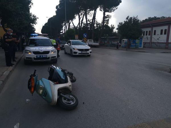 Nazilli'de Kaza; Motosiklet Sürücüsü Yola Savruldu