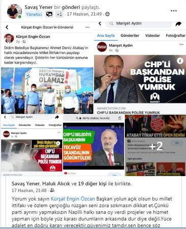 Atabay'a destek veren Özcan'a eleştiri!