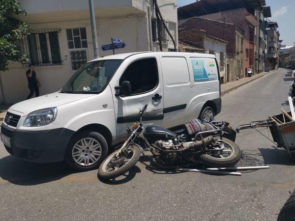 Nazilli'de Motor Kazası; 1 Yaralı!