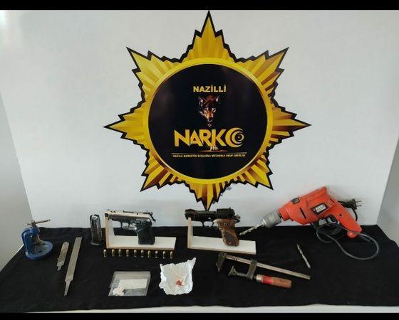 Nazilli'de Uyuşturucu Operasyonu; Silah Ve Uyuşturucu Ele Geçirildi