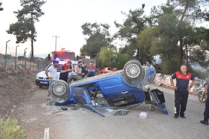 Karacasu'da Kaza; Otomobil Takla Attı!