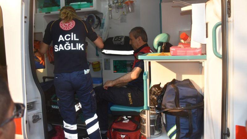 Karacasu'da Ev Yangınını Söndürdü, Bacağından Yaralandı!