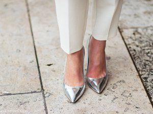 Yeni Moda Metalik Ayakkabı