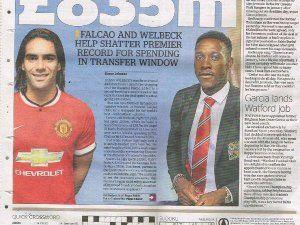 Radamel Falcao Ve Danny Welbeck Transferleri Premier Lig'i Salladı