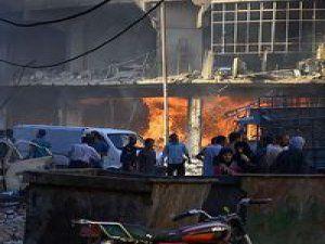 Şam'a Havadan Saldırı Yaptılar: 50 Ölü