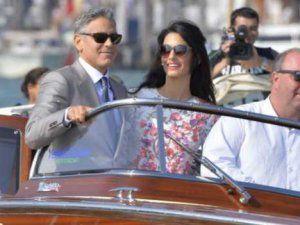 George Clooney Amal Alamuddin'le Evlendikten Sonra İlk Kez Görüntülendi