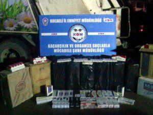 Kocaeli'nde Çöp Kamyonunda 95 Bin Paket Kaçak Sigara Bulundu