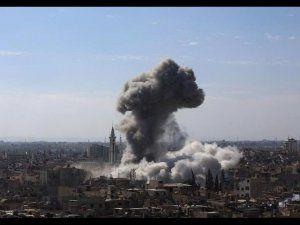 Şam'daki 65 Sivil Yoğun Bombardıman Kurbanı