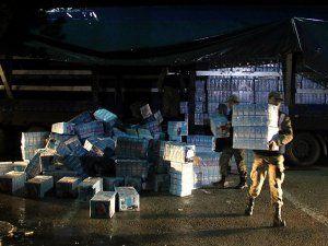 Giresun'da 78 Bin Paket Kaçak Sigaraya El Konuldu