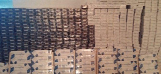 Erzincan'da 7 Bin 200 Paket Kaçak Sigara Yakalandı