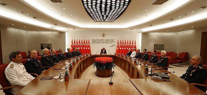 Yüksek Askeri Şura Toplantısı Başbakan Ahmet Davutoğlu Başkanlığında Yapıldı