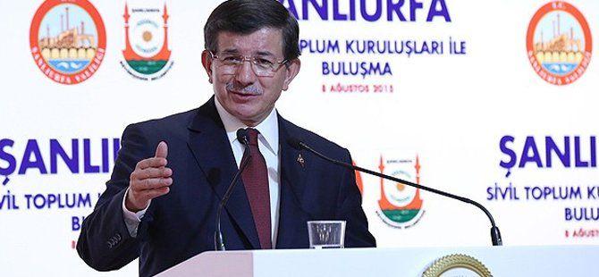 Başbakan Ahmet  Davutoğlu Şanlıurfa'da Konuştu