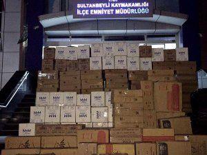 Sultanbeyli'de 112 Bin Kaçak Sigara Yakalandı